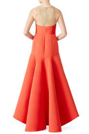 Red Golden Arch Gown by Marchesa Notte