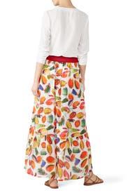 Fruit Printed Midi Skirt by Aldomartins