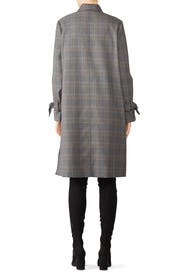 Grey Plaid Long Coat by Derek Lam 10 Crosby