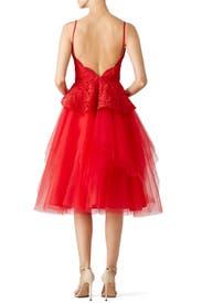 Red Rue Dress by nha khanh