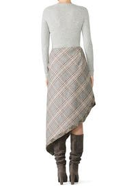 Ramsay Chevron Check Skirt by JOSEPH