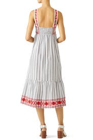 Stripe Embroidered Maxi Dress by kate spade new york