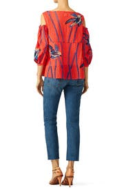 Red Elien Top by Tanya Taylor