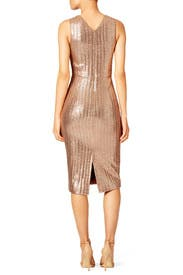 Metallic Knit Dress by Christian Siriano