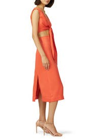 Cut Out Tie Front Dress by Nicholas
