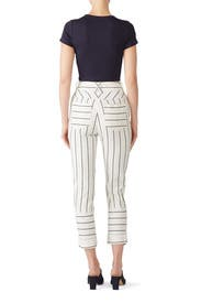 Striped Utility Drawstring Pants by Derek Lam 10 Crosby