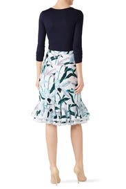 Printed Ruffle Skirt by Tory Burch