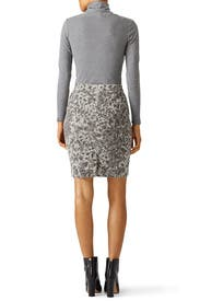 Geneva Leopard Pencil Skirt by Current/Elliott