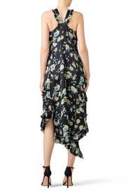 Black Floral Halter Dress by Derek Lam 10 Crosby