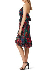 Blurred Floral Halter Dress by Jason Wu Collective