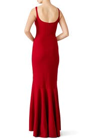 Red Sade Gown by Cinq à Sept