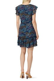 Confetti Printed Flutter Sleeve Dress by Slate & Willow