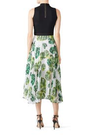 Leaf Print Clara Skirt by DELFI Collective