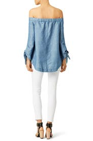 Chambray Show Some Shoulder Tunic by Free People