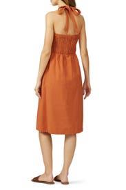 Burnt Orange Halter Dress by Moon River