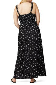 Black Polka Dot Maxi by JUNAROSE