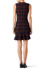 Plaid Godet Dress by Derek Lam 10 Crosby