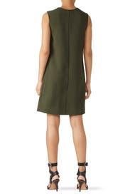 Olive Pleat Front Dress by Fifteen Twenty