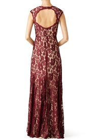 Maroon Romantic Ride Gown by LM Collection
