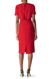 Red Popover Sheath by Jason Wu Collection