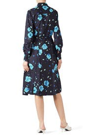 Floral Long Sleeve Shirtdress by Marni