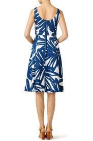 Navy Brush Print Dress by Slate & Willow