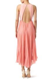 Parfait Pleats Dress by HALSTON