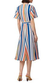 Riviera Stripe Wrap Dress by Slate & Willow