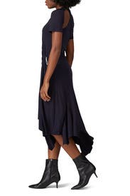 Navy Deconstructed Cycling Dress by MONSE