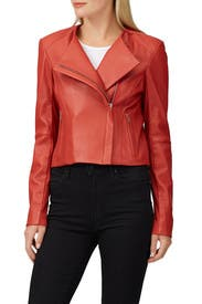Rust Dali Leather Jacket by VEDA