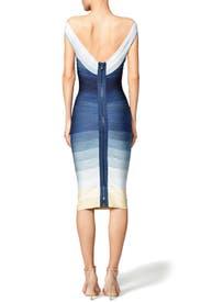 Blue Ardell Dress by Hervé Léger