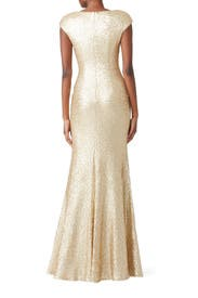 Gold Kaylee Gown by Theia