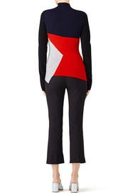 Colorblock Turtleneck Knit by Diane von Furstenberg