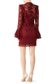 Wine Devin Lace Dress by Saylor