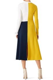 Colorblock Knit Dress by Cedric Charlier