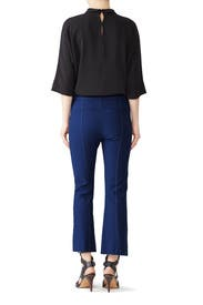 Military Blue Flared Trousers by Derek Lam 10 Crosby