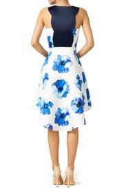 Blue Poppy James Dress by TROUBADOUR