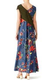 Ferma Combo Draped Dress by Diane von Furstenberg
