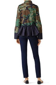 Peplum Camo Jacket by Harvey Faircloth