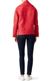 Red Brutus Jacket by Rebecca Minkoff