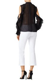 Ruffle Cold Shoulder Top by Nicholas