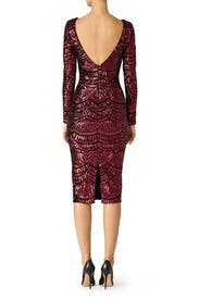 Burgundy Emery Dress by Dress The Population
