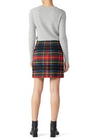 Lurex Stewart Tartan Mini Skirt by J.Crew