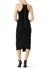 Black Hardware Halter Dress by David Koma