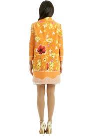 Floral Tweed Coat by Peter Som