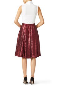 Red Rachil Skirt by Slate & Willow