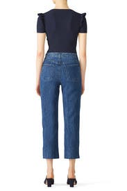Wynne Crop Straight Jeans by J BRAND
