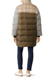 Checked Wool Oversize Down Coat by 3.1 Phillip Lim