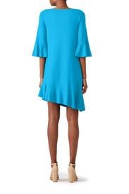 Blue Ruffle Maternity Dress by Susana Monaco