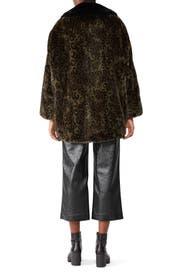 Faux Fur Leopard Oversize Coat by The Kooples